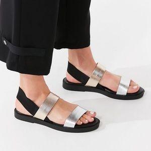 Helena Slingback Sandals Metallic Gladiator Sz 8